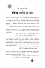 Wanted Undead or Alive by: Jonathan Maberry ISBN10: 0806534338