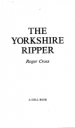 The Yorkshire ripper by: Roger Cross ISBN10: 044019802x