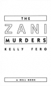 Book: The Zani Murders (mentions serial killer Robert Joseph Zani)