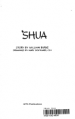 Shua by: William Burke ISBN10: 0879460504