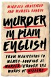 Book: Murder in Plain English (mentions serial killer Elizabeth Wettlaufer)